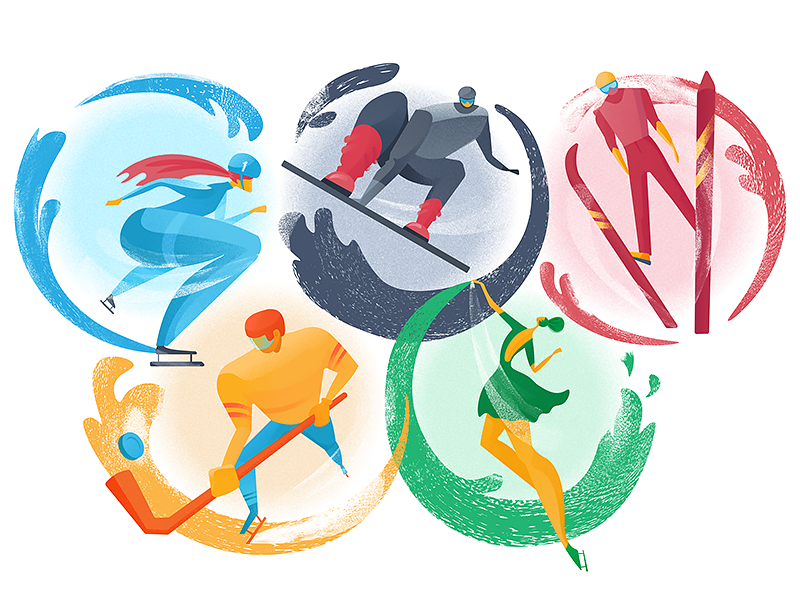 Winter olympic games illustration tubik design