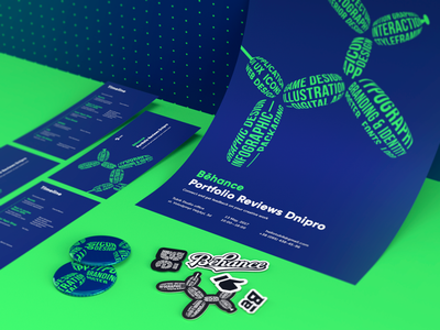 Event Identity: Behance Portfolio Reviews Dnipro event identity design community poster illustration identity mascot branding event branding graphic design design