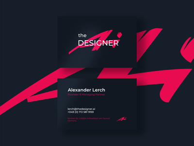 The Designer AI Logo business card identity graphic designer typography lettering fashion branding logo graphic design design