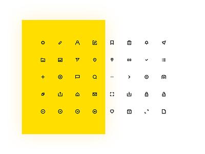 Universal Icons Freebie glyph stroke vector interaction design freebie interface icons ux ui graphic design design