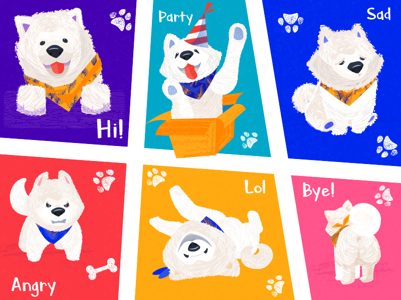 Nord funny dog stickers tubik design