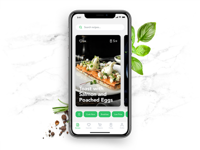 Perfect Recipes App ios product card cooking food recipe interface interaction ux ui mobile app design
