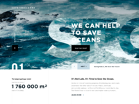 Save the oceans website animation tubik ui design
