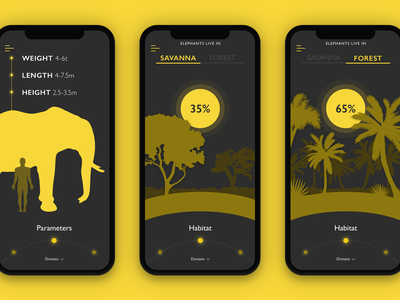 Nature Encyclopedia App Interactions meditation motion animation sleep health interface interaction ux ui mobile app design
