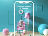 Baby app mobile ui design tubik