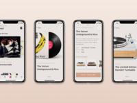 Vinyls shop app tubik design