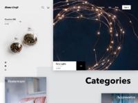 Home craft ecommerce website tubik