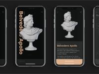 Museum mobile app ui design tubik