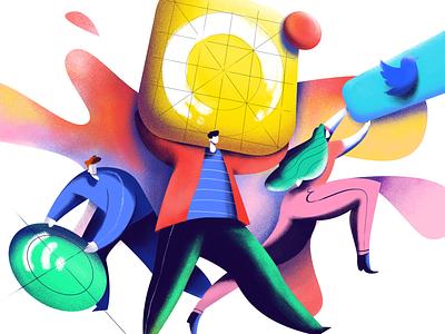 Icon Design Illustration design process userexperience teamwork designer illustrator character icon interaction digital art web app graphic design ui ux illustration interface icons design
