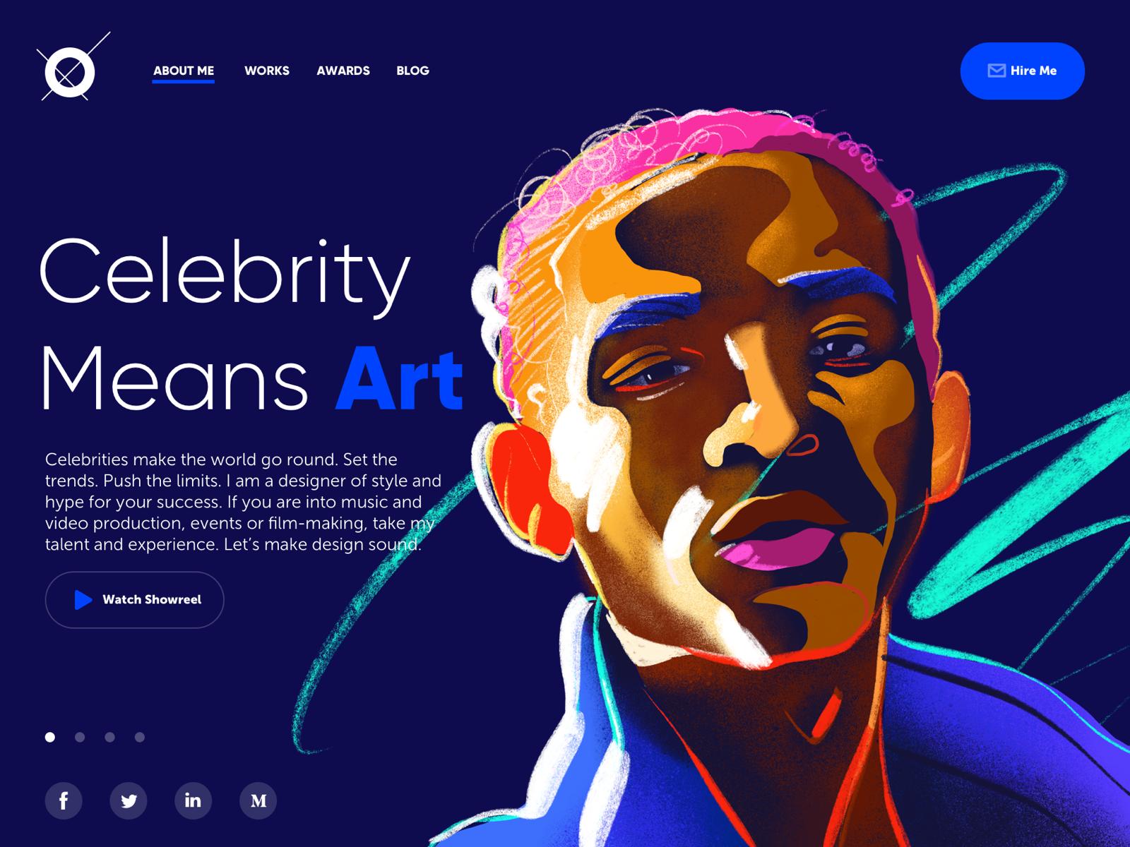 Designer portfolio website tubik