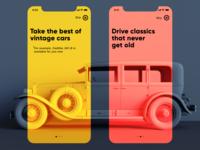 Vintage Car App Onboarding
