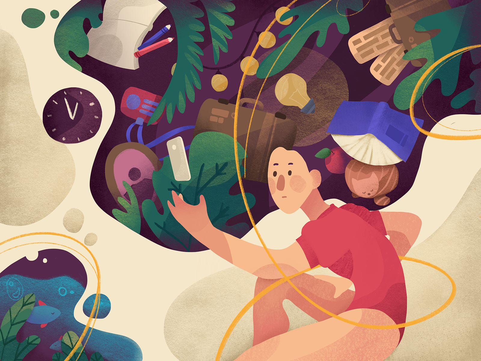 Design psychology illustration tubik