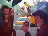 Creative Teamwork Illustration