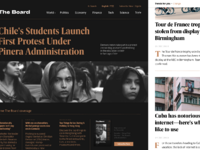 The board news website design tubik