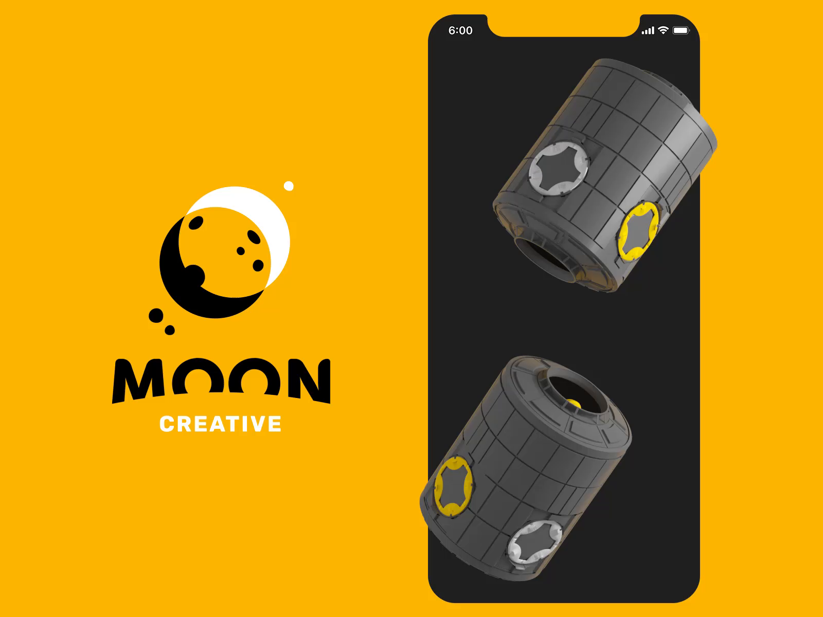 Moon astronaut animation design tubik
