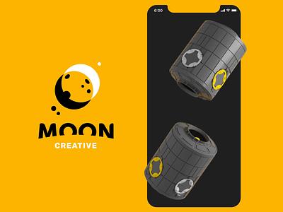 Moon Creative Loading Animation mobile app interface render digital art interaction motion motion design animation loading splash screen moon astronaut space illustration 3d graphic design ux ui design