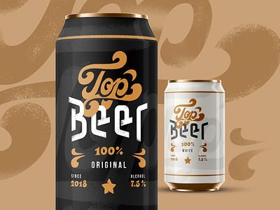 Top Beer Packaging Design lettering marketing branding design beer branding drink beer beer can packaging identity branding typography graphic design design