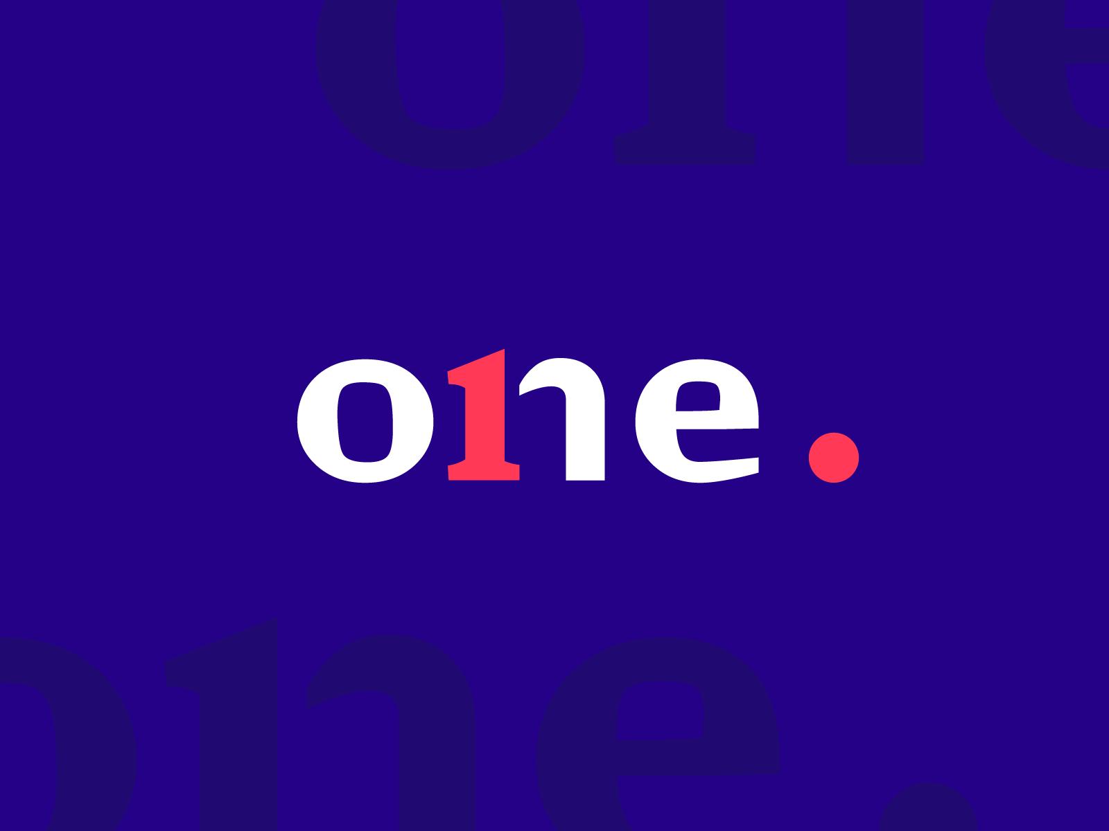 One logo design branding tubik