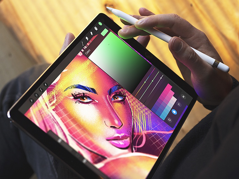 Color Experiments Inspiration bright hero image face woman design process inspiration ipad art procreate color palette color experiment color digital artist digital art illustration graphic design design