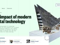 Urban digital conference webdesign tubik