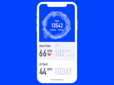 Fitness Tracker Refresh Animation ios sport utilities user experience mobile interactions ui animation fitness tracker fitness app pull to refresh pull down interaction mobile motion app animation interface graphic design ui ux design