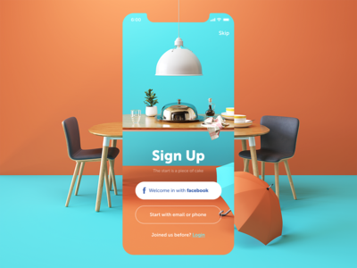 Restaurant App Sign Up