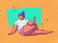 Yoga Chill Illustration