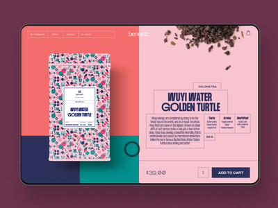 Tea Ecommerce: Product Card drink web interaction identity branding user experience tea shop tea ecommerce product card website webdesign interface typography graphic design motion animation ux ui design