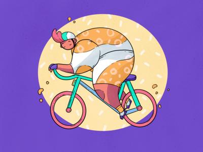 Cycling Joy Illustration