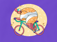 Cycling Joy Illustration