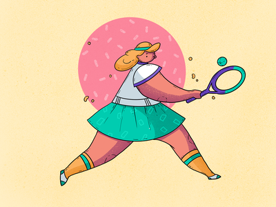 Tennis Player Illustration digital art tennis sport illustration graphic design design