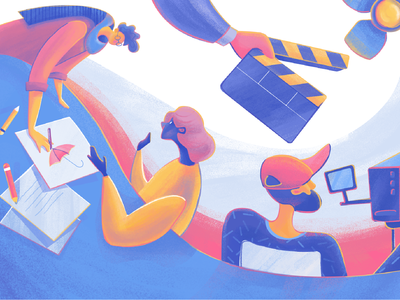 Moonworkers Video Production Illustration