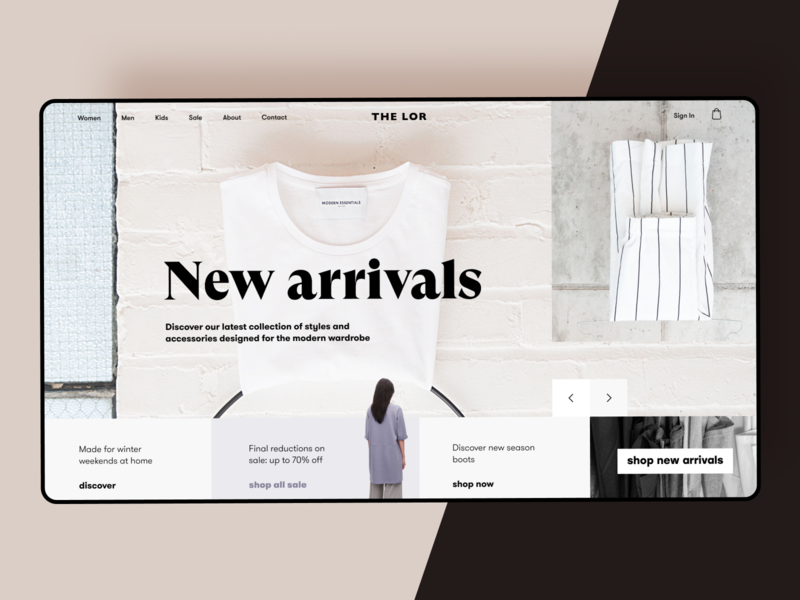 Fashion Store Website style outfits minimalism homepage user experience fashion store shopping clothes fashion ecommerce website webdesign interface graphic design ux ui design