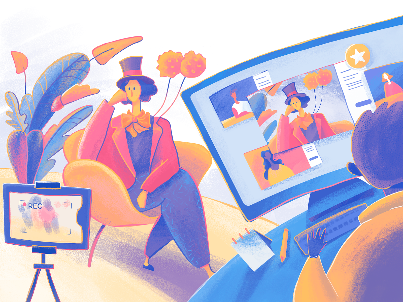 Moonworkers profile digital illustration tubik