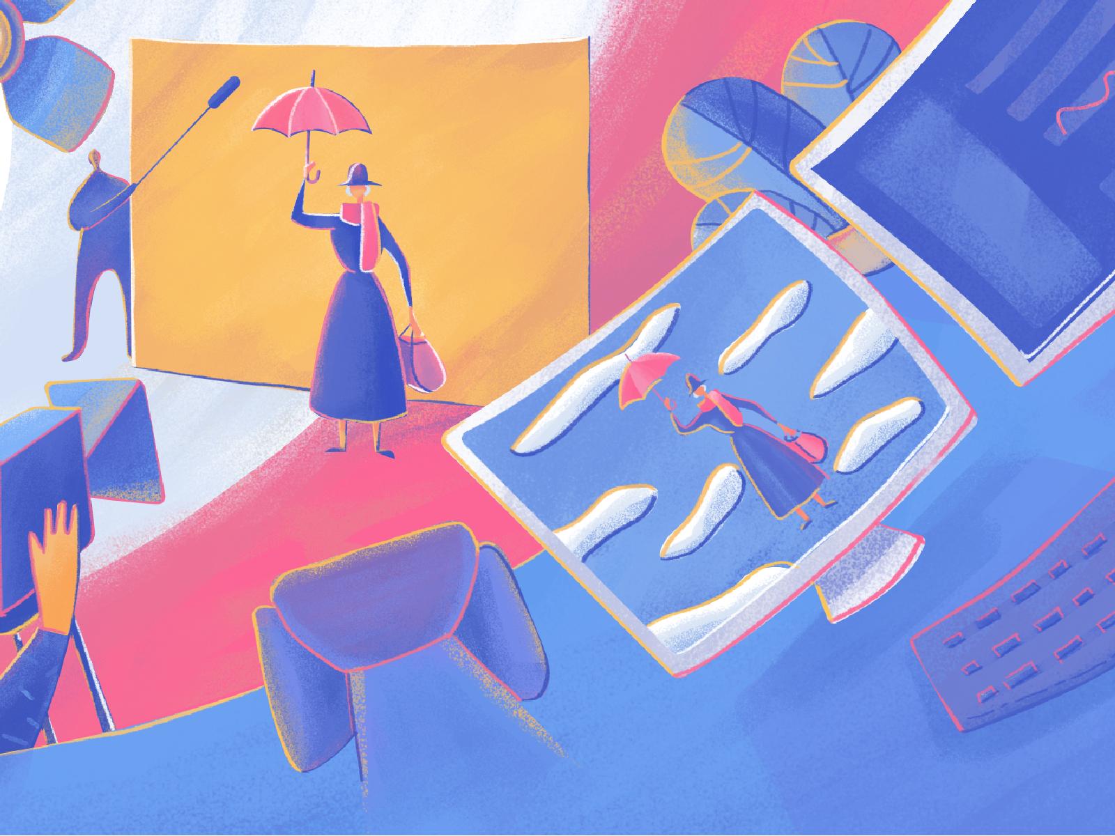 Moonworkers illustration film production tubik