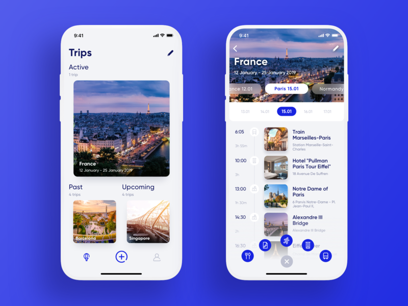 Travel Planner App journey graphic design planner user interface mobile screen navigation user experience interaction traveling mobile app design mobile app travel app travel ux ui design