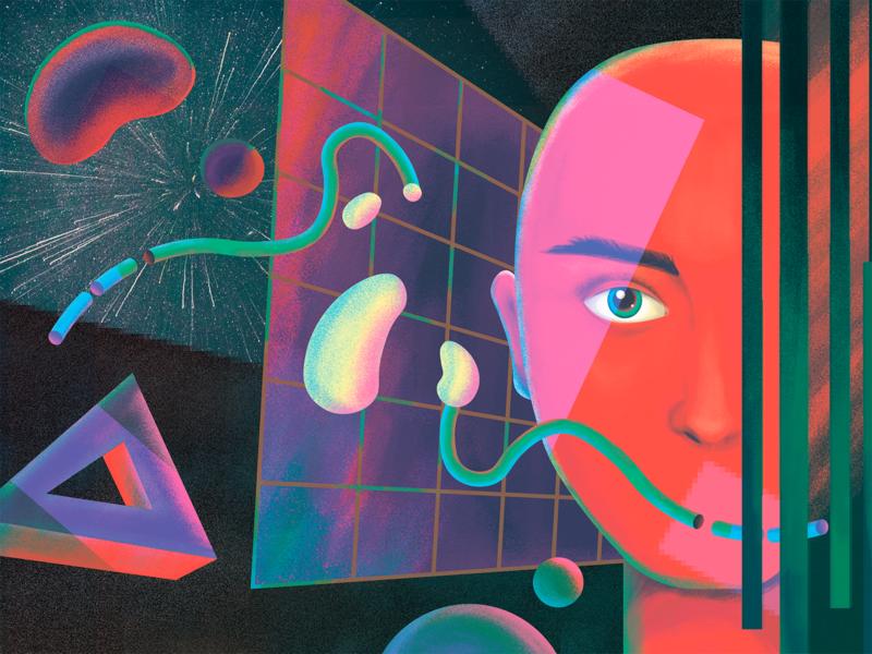 AI and VR in Design Illustration creative robot character illustrator digital painting digital art design art website illustration blog illustration artificial intelligence futurism virtual reality vr ai illustration graphic design design