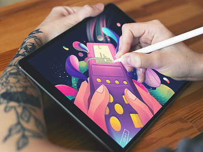 Digital Illustration Process game digital illustration digital artwork user experience ux digital artist illustrator creative process art design photo design process design studio digital painting digital art blog illustration tetris procreate illustration graphic design design