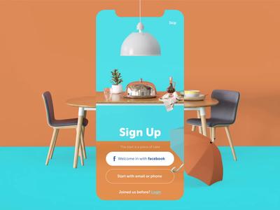 Restaurant App Welcome Animation