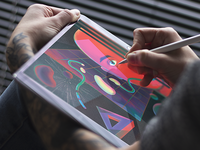 Futuristic Illustration Process