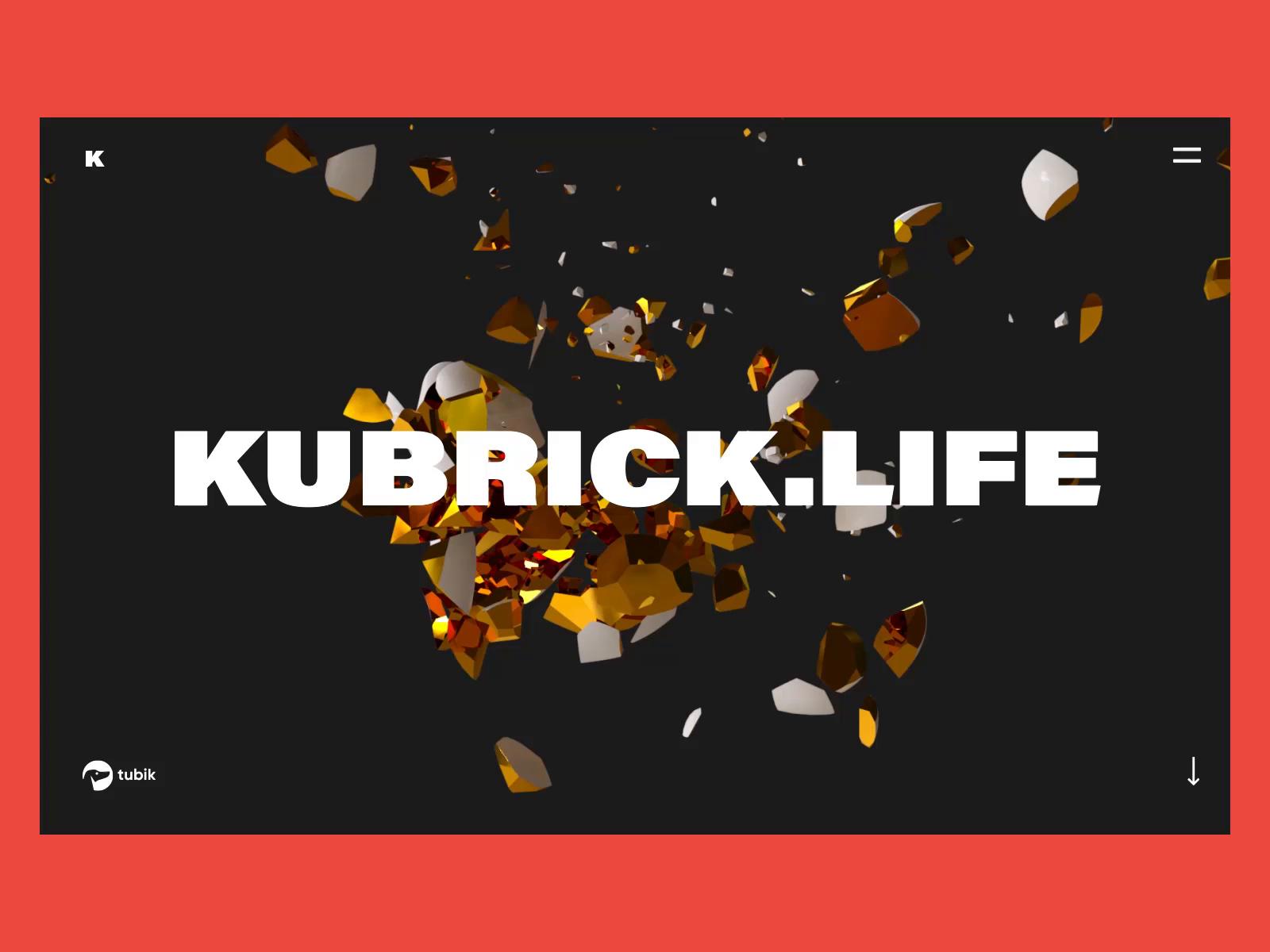 Kubrick life website 3d animation tubik