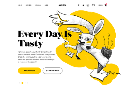 Food Delivery Service Landing Page service website ecommerce user experience landing page delivery service food delivery food branding website character web design studio digital art interaction interface ux ui illustration design graphic design