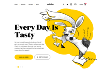 Food Delivery Service Landing Page