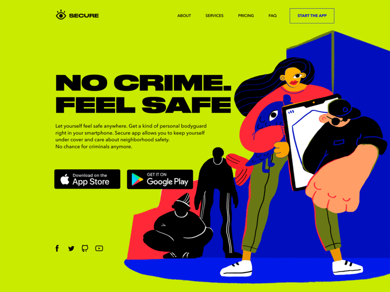 Secure App Landing Page