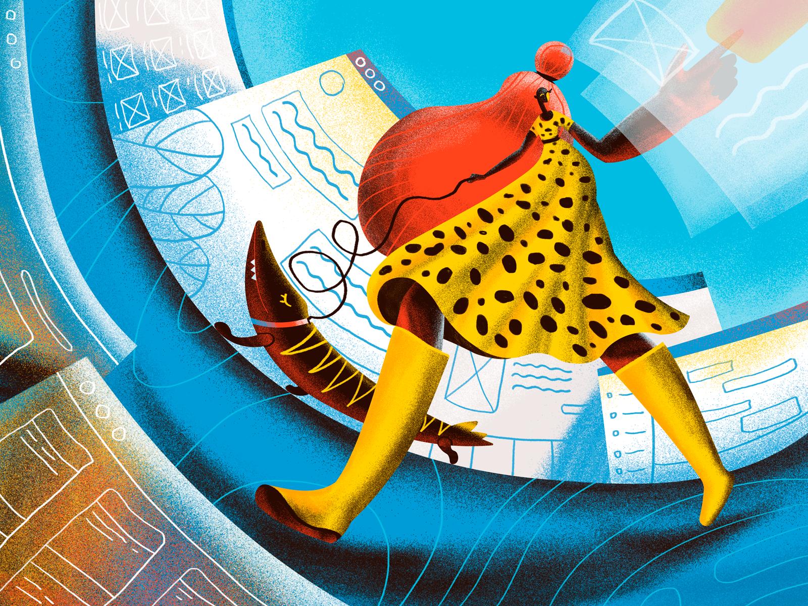 Surfing the web illustration tubik