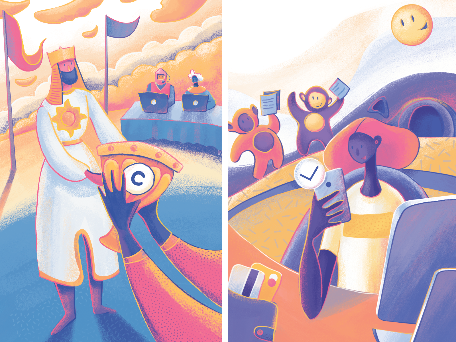 Moonworkers: Getting Paid Illustration by tubik | Dribbble ...