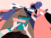 Onboarding Design Illustration