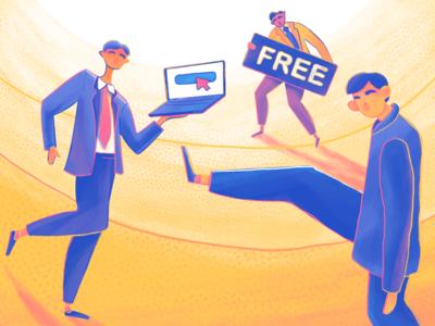 Moonworkers: Free Transactions Illustration