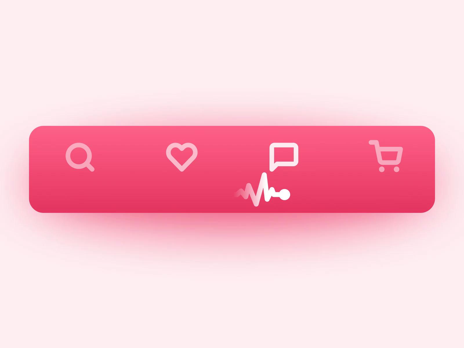 Tapbar animation heartbeat line tubik