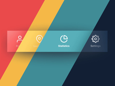 Colored Tab Bar Interactions